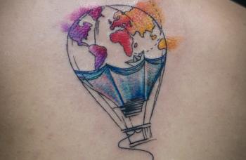 Watercolor styl tetování