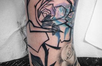 Freehand tetování ( skicování přímo na kůži)