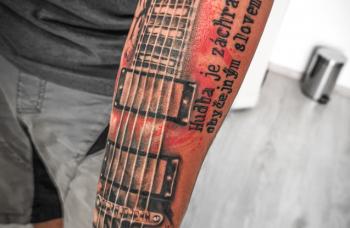 Trash polka tattoo design