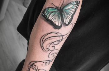 Motýl 3D tattoo